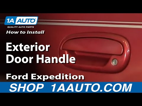 How To Replace Exterior Door Handle 97 03 Ford Expedition Youtube