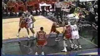 allen iverson classic crossover on mj game highlight 96 97