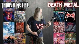 Thrash Metal VS Death Metal ( Old School Guitar Riffs Battle)