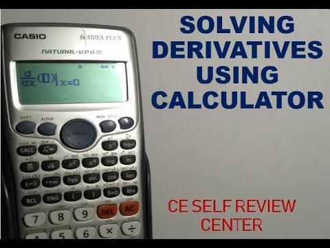 How To Solve  Derivatives Using Calculator  Calculus Tutorial CE Self Review