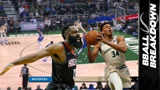 Giannis Can't Keep Bucks Streak Alive While Harden Propels Historic Comeback: NBA Highlights