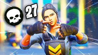 ¡LA MEJOR PARTIDA CON LA SKIN DE WAYPOINT EN FORTNITE! *27 KILLS* - Dallp