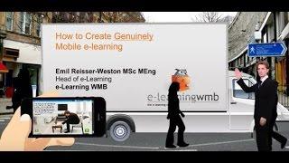 Wie zu erstellen, die wirklich mobilen e-learning