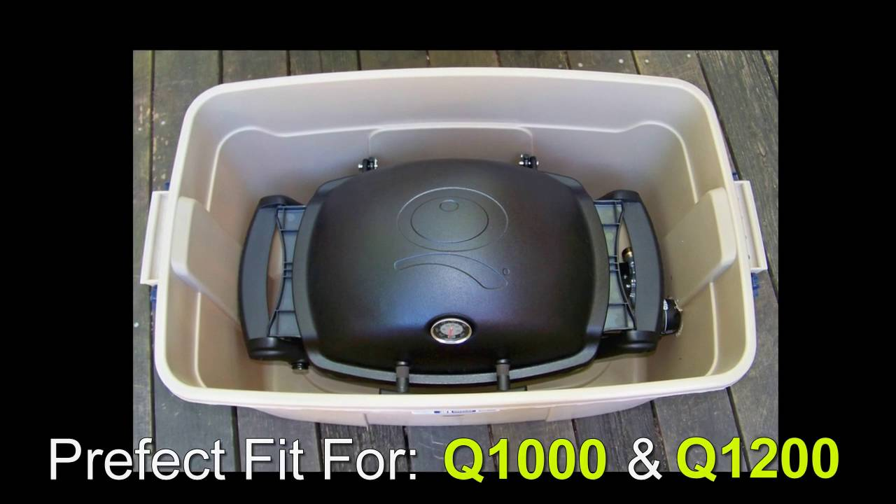 Weber Q Grill Great Camping & RV-ing Grill - DIY Container & Storage for  Grill - YouTube