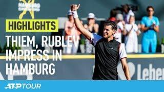 Thiem, Basilashvili Make Strides In Hamburg 2019   HIGHLIGHTS   ATP
