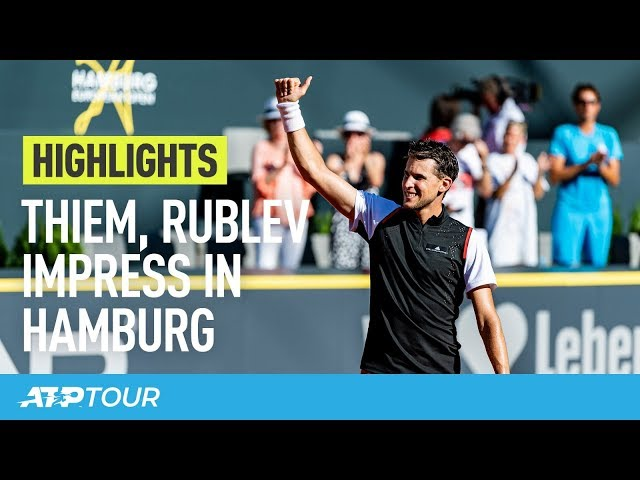 Thiem, Basilashvili Make Strides In Hamburg 2019 | HIGHLIGHTS | ATP