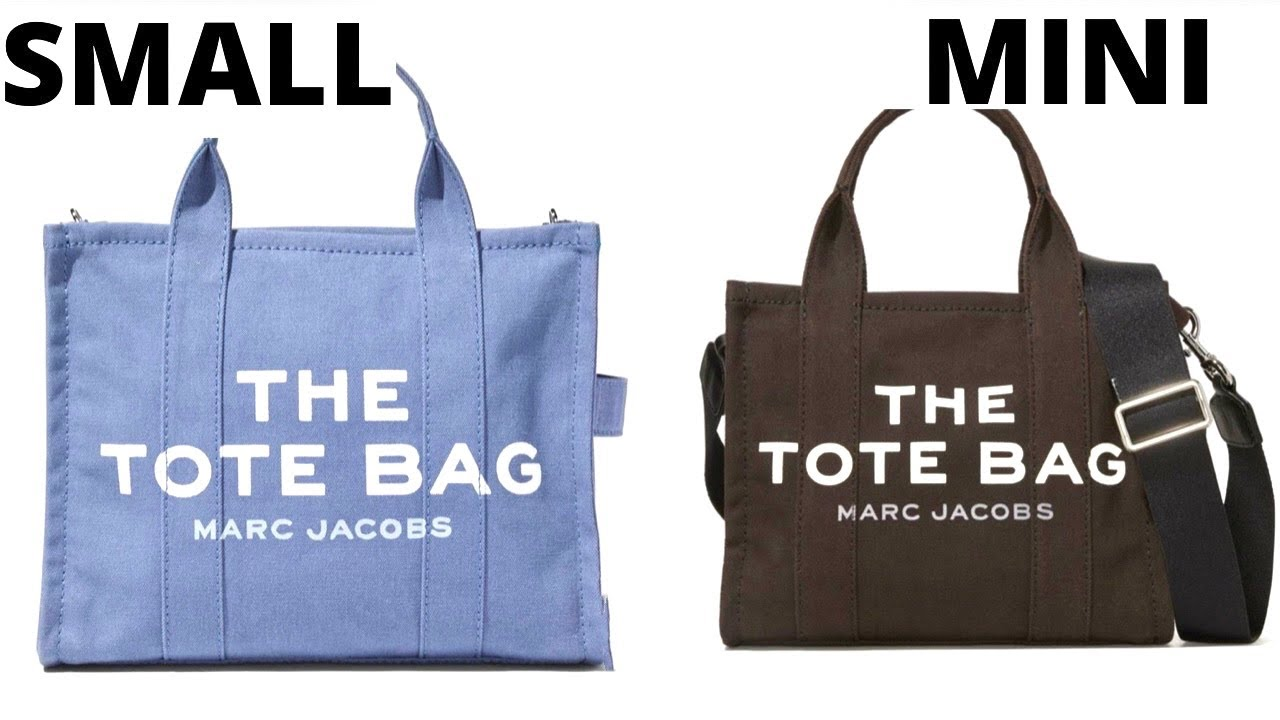 THE MARC JACOBS TRAVELER TOTE SMALL SIZE VS. MINI SIZE_MOD SHOTS/ BEST TOTE  BAGS UNDER $200