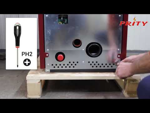 PRITY pellet stove full cleaning
