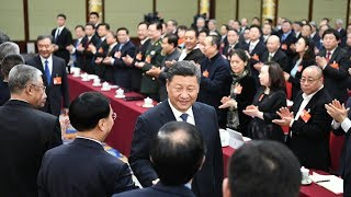 Moments of Two Sessions: Xi joins panel discussion with political advisors | CCTV English