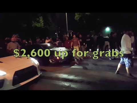 Procharged Camaro Vs Nissan GTR 2,600 Race