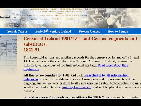 How to harvest data from the 1911 Irish census ...