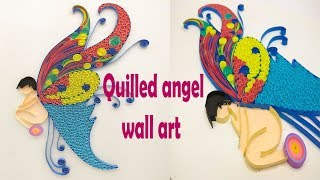 Quilled Angel Fairy Doll Wall Art | Magic Quill