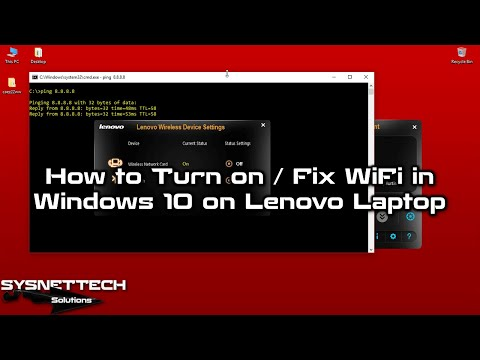 ✅ How to Turn on WiFi in Windows 10 on Lenovo Laptop | How to Fix WiFi in Lenovo SYSNETTECHSolutions