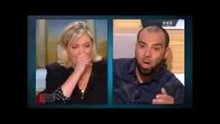 Marine le Pen face à un musulman.