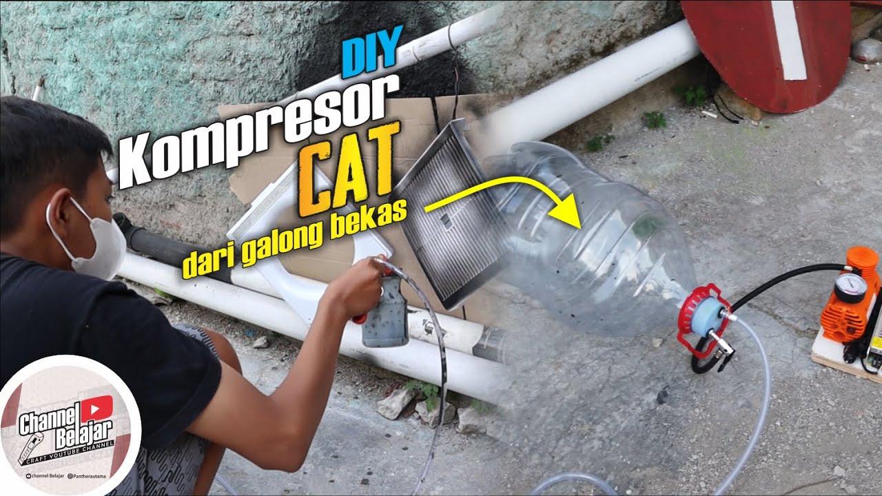 ngecat murah pakai Galon | Kompresor dari Galon Low Budget