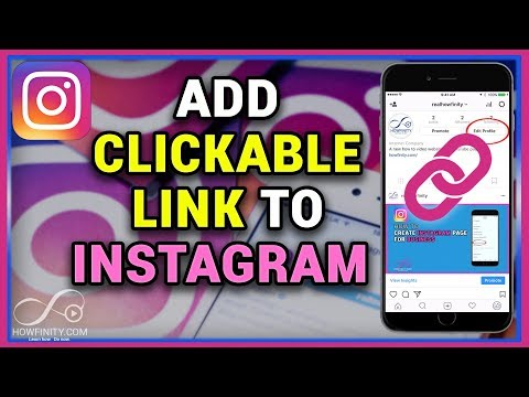 How to add a clickable link to Instagram bio