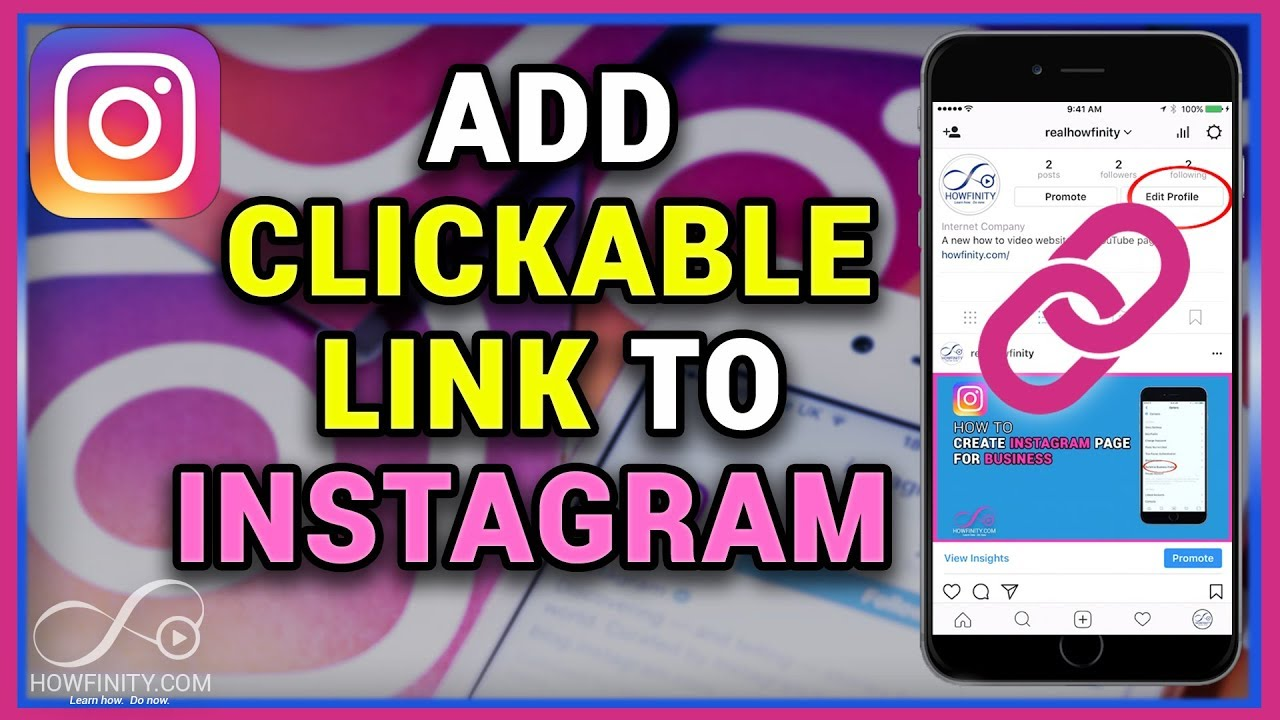 How to add a clickable link to instagram bio youtube how to add a clickable link to instagram bio ccuart Gallery