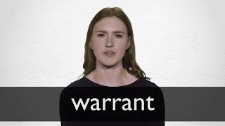 How to pronounce WARRANT in British English