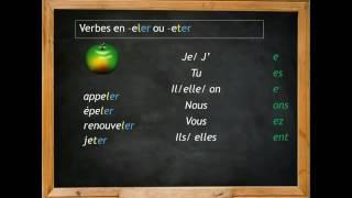 Present Indicatif Des Verbes En Eler Et En Eter Youtube