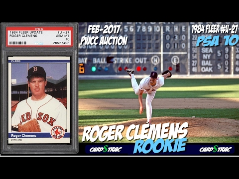 1984 Roger Clemens Rookie Card Fleer Update U27 For Sale