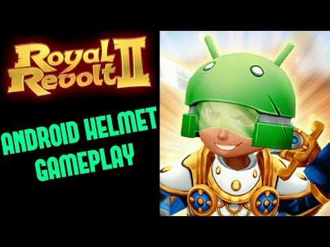 ROYAL REVOLT 2 - ANDROID HELMET Gameplay (+level Up!)