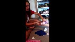 Applying calamine lotion tutorial. #like