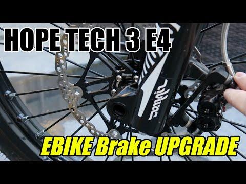 Serious E Bike Brake upgrade & test run | Hope Tech 3 E4