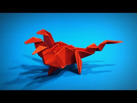 Origami Hydra   How to Make a Paper Hydra Dragon DIY   Origami Easy ART   Paper Crafts