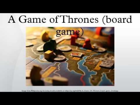 A Game Of Thrones (board Game)