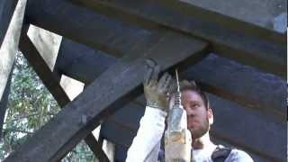 Pavilion Kit Roof Installation - 4 Of 4 - Setting The Web Timbers