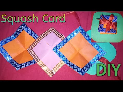 How To Make DIY Squash Card for Birthday||From scrapbook|Very Easy in Hindi||Experts Of Creativity||