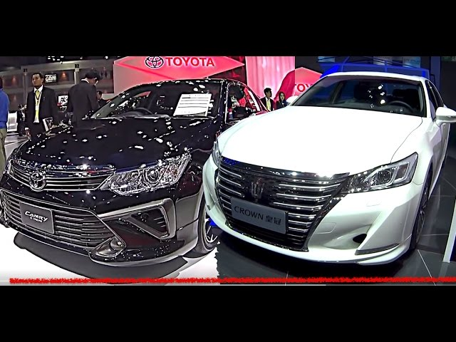 2017 Toyota Crown Vs New Toyota Camry The Largest Affordable Luxury Sedans