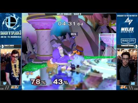 Smash n Splash 3 - Smile | Boyd (Ice Climbers) vs. Finnegan Gunna (Dr. Mario) - Singles Wave D