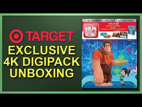 Ralph Breaks The Internet Target Exclusive 4K+2D Blu-ray Digipack Unboxing