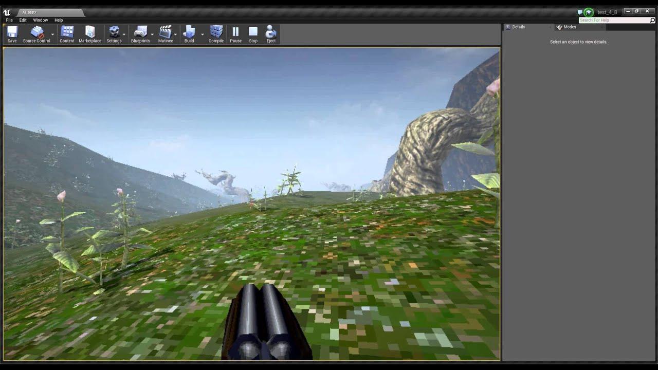 Procedural generation of terrain in Unreal Engine