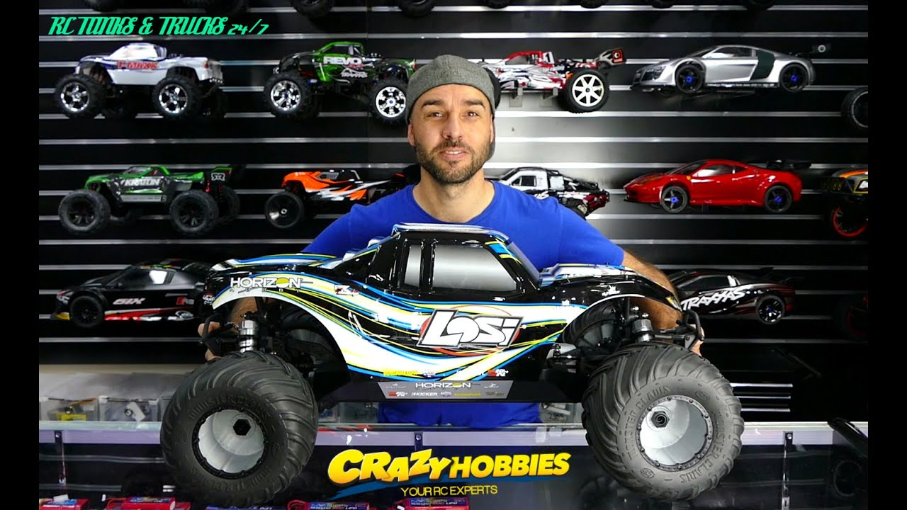 losi 1 5 monster truck xl 4wd rtr with avc technology. Black Bedroom Furniture Sets. Home Design Ideas