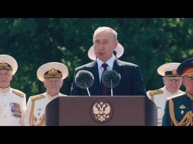 Putin promete reforzar su defensa en el Día de la Armada rusa