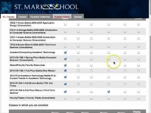 Edit your My Classes List in Blackboard