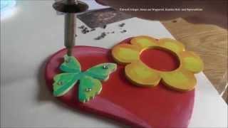 Papa & Kind Basteln, Muttertag Geschenk: Herz Teelichthalter, Teil 2