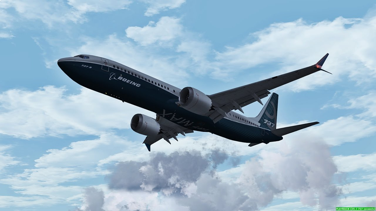 Stunning! Boeing's 737 MAX on Flying Display (FSX Version)