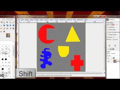 GIMP 101 - Basics Part 1 - Selections