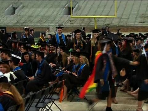 Notre Dame Graduates Walk Out of Pence Speech
