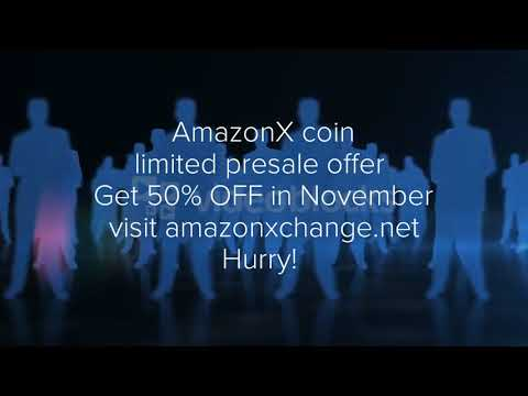 Amazon X Cryptocurrency token presale on Amazonexchange.net 50% off