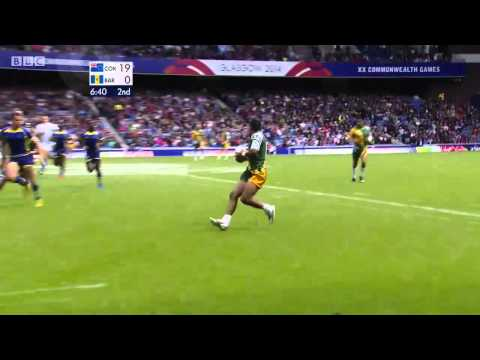 Barbados vs Cook Islands CWG Rugby 7's 2014