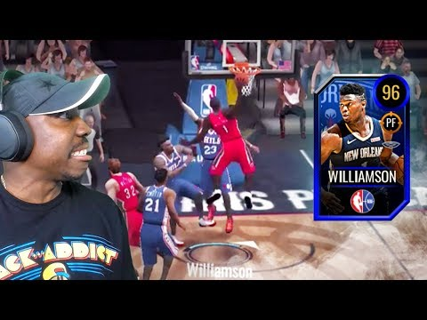 96 OVR ZION DUNKING ON OPPONENTS! NBA Live Mobile 20 Season 4 Gameplay Pack Opening Ep. 27