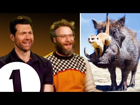 """""""There are THREE Lion Kings?!"""" Seth Rogen & Billy Eichner on Timon & Pumbaa's other movies."""