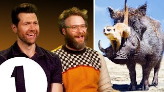"""There are THREE Lion Kings?!"" Seth Rogen & Billy Eichner on Timon & Pumbaa's other movies."