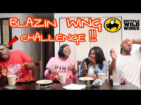 BLAZIN BUFFALO WILD WINGS CHALLENGE!! (HOTTEST WINGS EVER)
