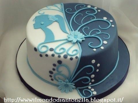 Torta di compleanno  sagoma donna birthday cake  YouTube