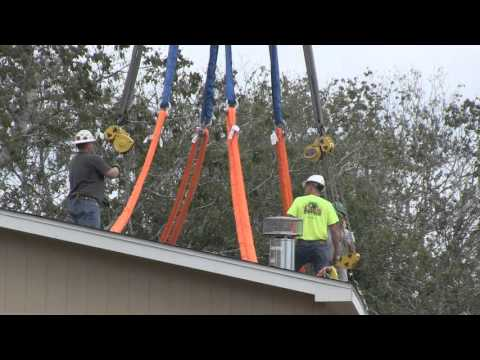 New Modular Home Installed On Elevated Piling System
